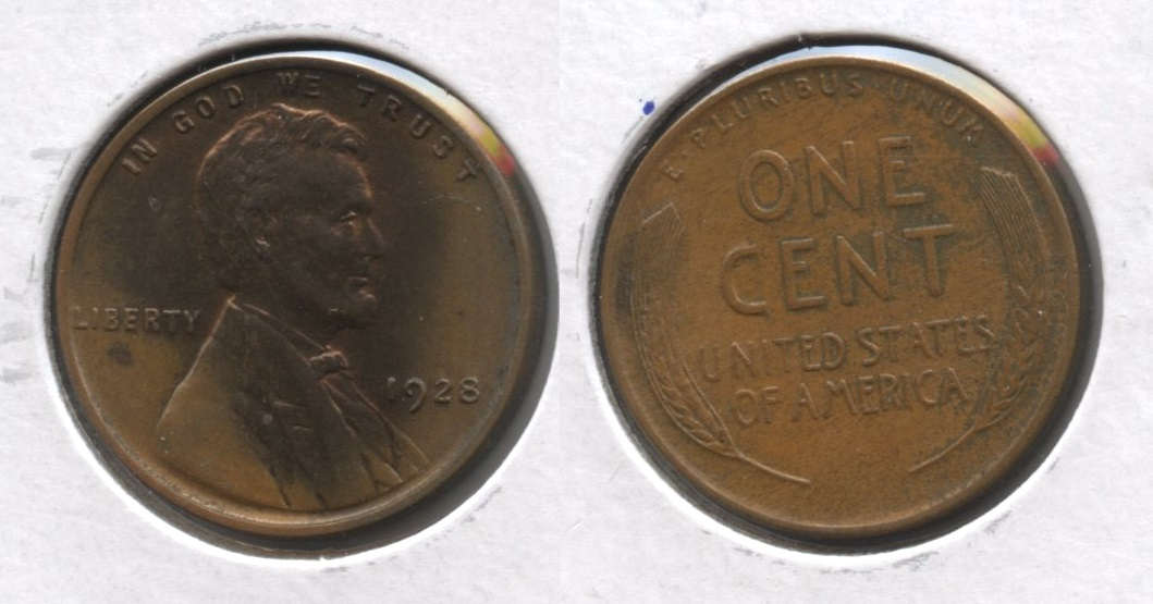1928 Lincoln Cent MS-60 Brown #c Haze