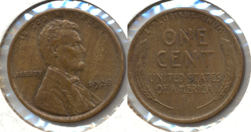 1928 Lincoln Cent MS-63 Brown