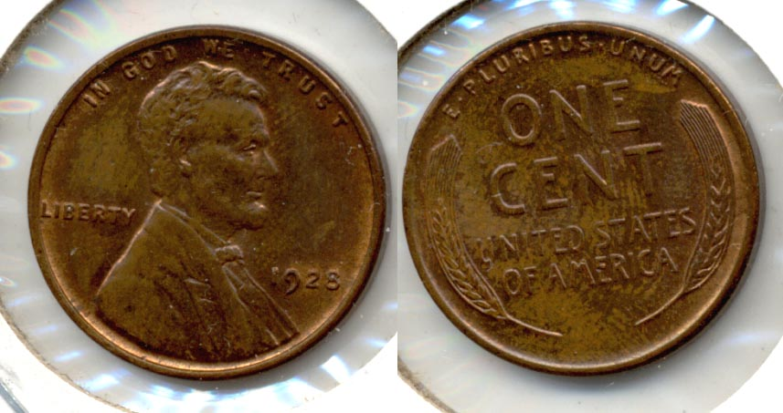1928 Lincoln Cent MS-63 Brown b