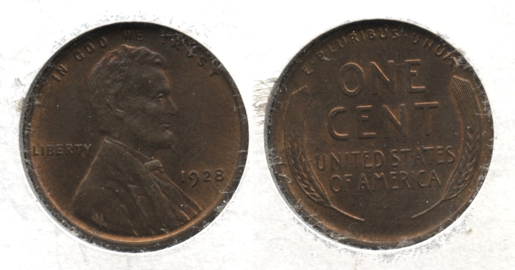 1928 Lincoln Cent MS-64 Brown #a