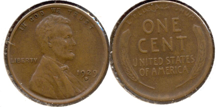 1929-D Lincoln Cent EF-40 b