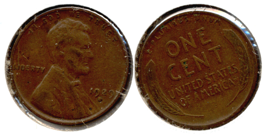 1929-D Lincoln Cent EF-40 l