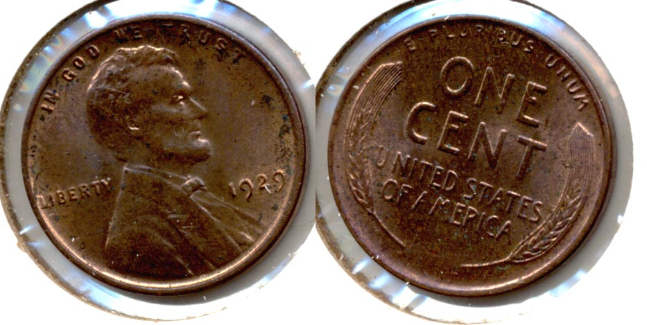 1929 Lincoln Cent MS-60 Brown