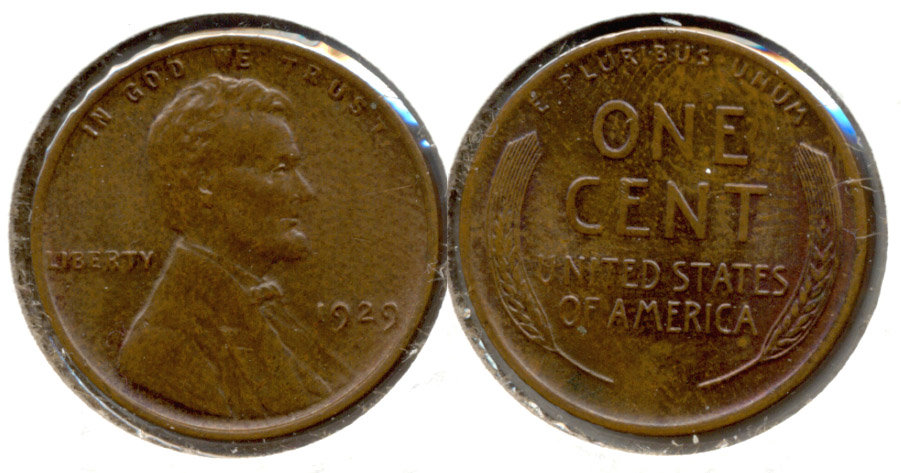 1929 Lincoln Cent MS-63 Brown d