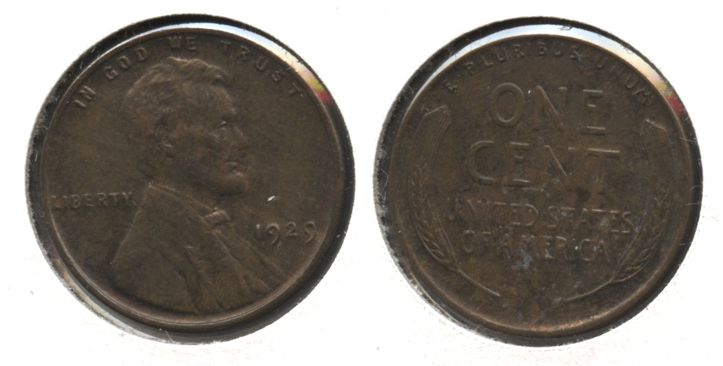 1929 Lincoln Cent MS-63 Brown #f