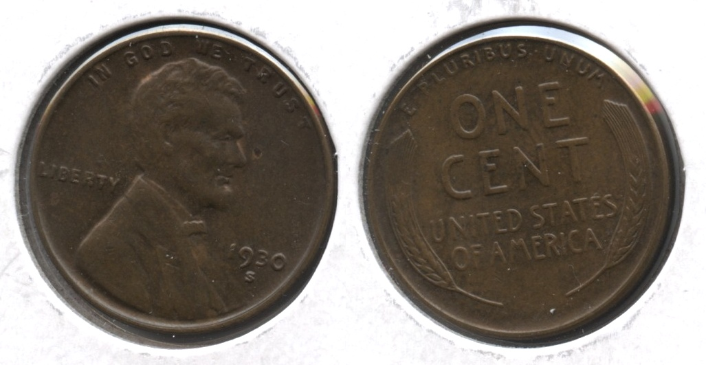 1930-S Lincoln Cent MS-63 Brown #b
