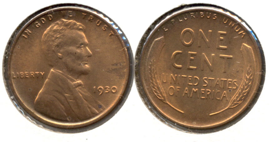 1930 Lincoln Cent MS-63 Red Brown x