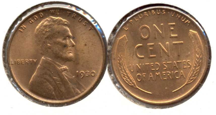 1930 Lincoln Cent MS-63 Red c