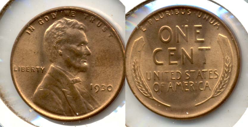 1930 Lincoln Cent MS-64 Red