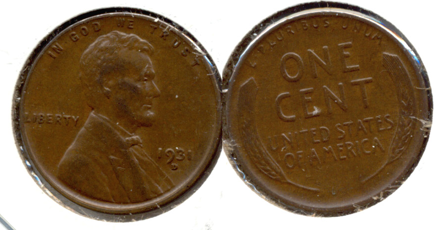 1931-D Lincoln Cent EF-40 f