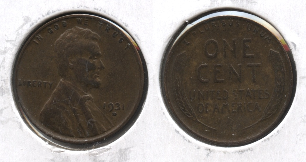 1931-D Lincoln Cent EF-40 #p