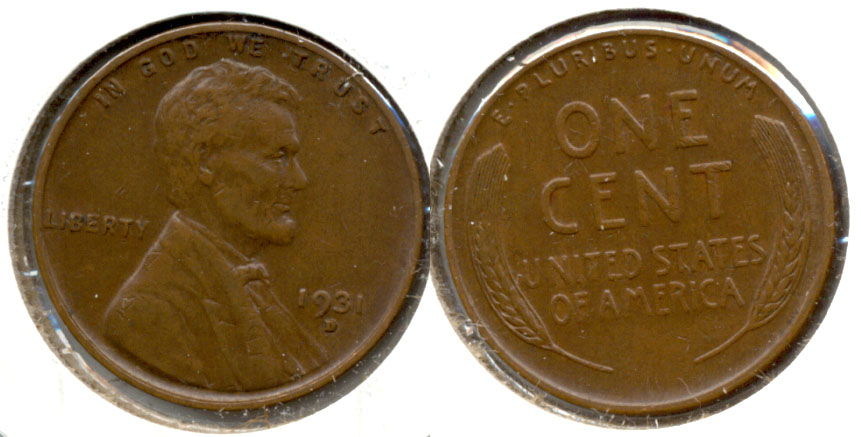 1931-D Lincoln Cent EF-45 c
