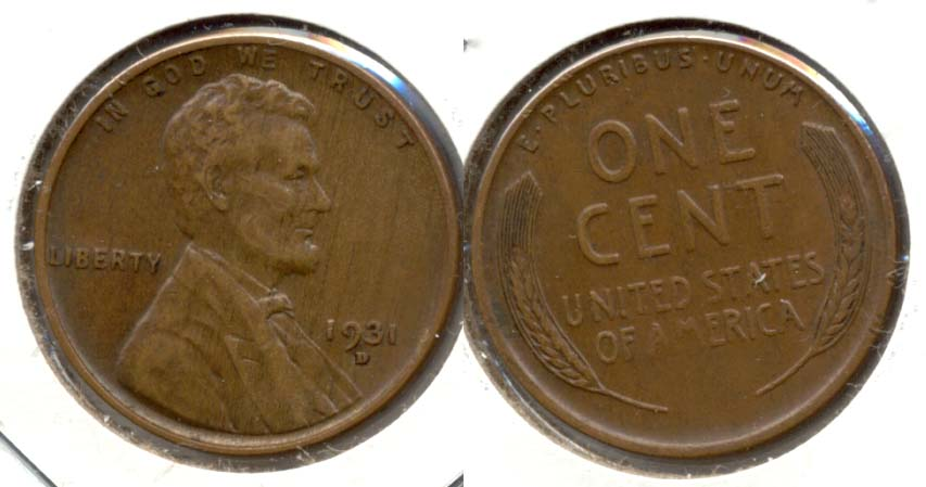 1931-D Lincoln Cent EF-45 f