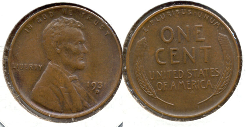 1931-D Lincoln Cent MS-63 Brown