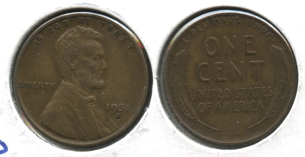 1931-S Lincoln Cent EF-40 #l