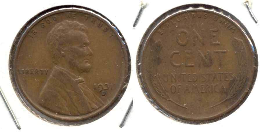 1931-S Lincoln Cent EF-45