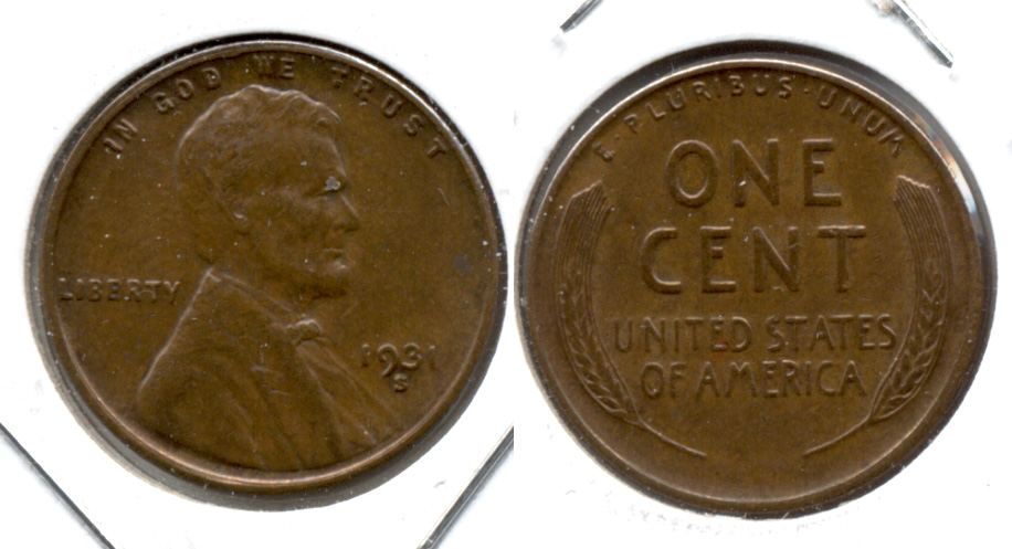 1931-S Lincoln Cent EF-45 a