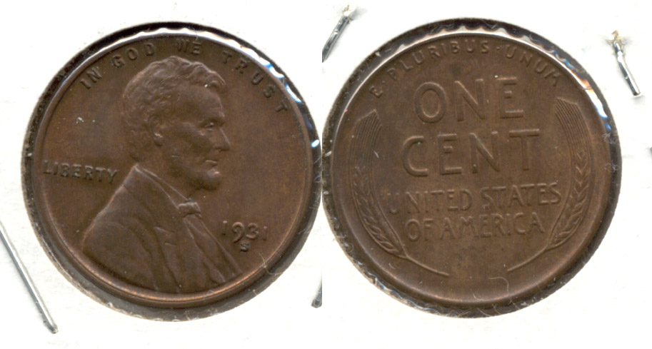 1931-S Lincoln Cent MS-63 Brown