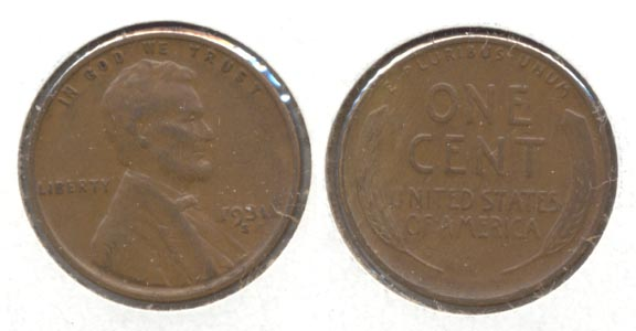 1931-S Lincoln Cent VF-20
