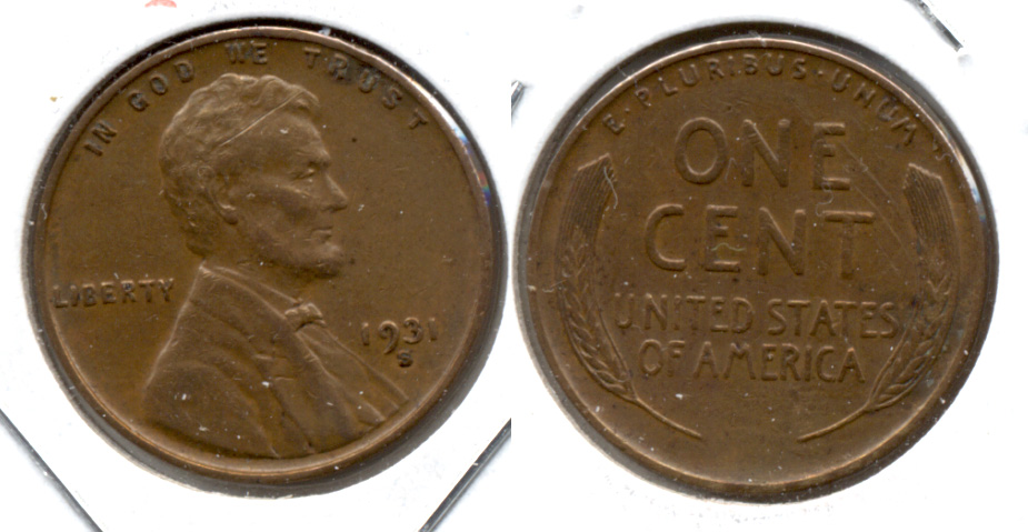 1931-S Lincoln Cent VF-30 b