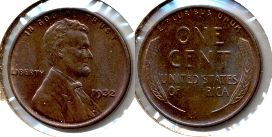 1932 Lincoln Cent MS-63 Brown