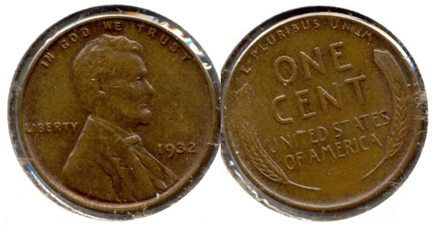 1932 Lincoln Cent MS-63 Brown a