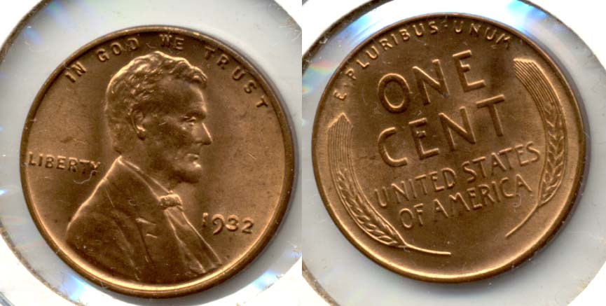 1932 Lincoln Cent MS-64 Red