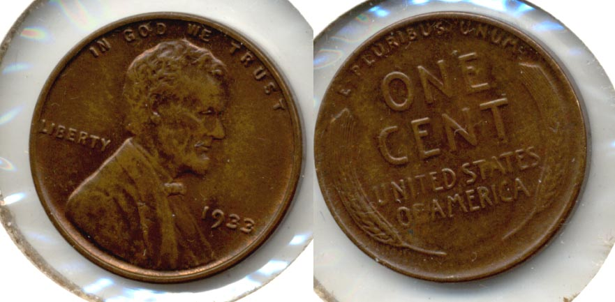 1933 Lincoln Cent MS-63 Brown a