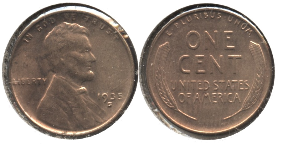 1935-S Lincoln Cent MS-61 Red