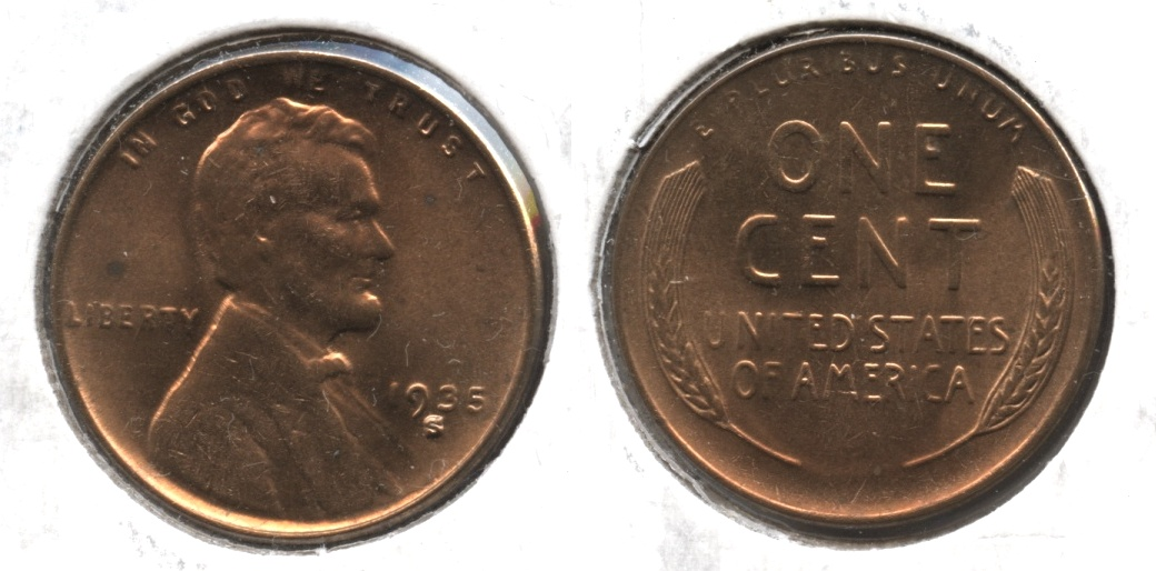 1935-S Lincoln Cent MS-61 Red #a
