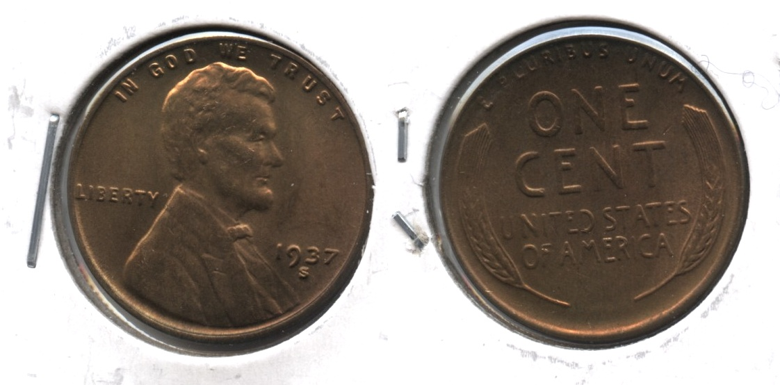 1937-S Lincoln Cent MS-64 Brown