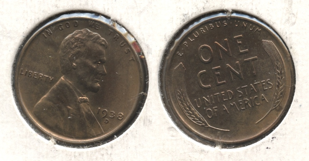 1938-D Lincoln Cent MS-63 Brown