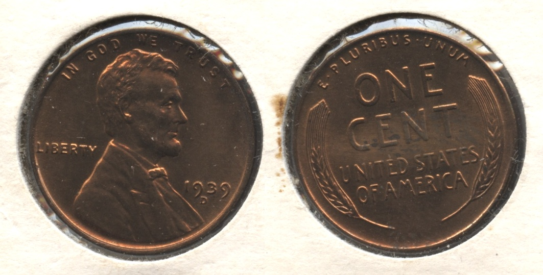 1939-D Lincoln Cent MS-61 Red Brown #a