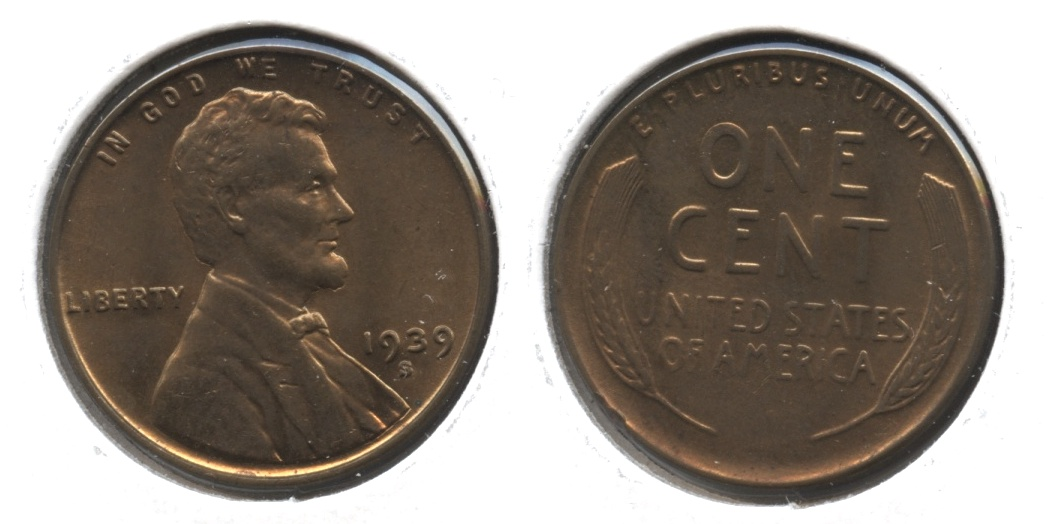 1939-S Lincoln Cent MS-61 Brown #b