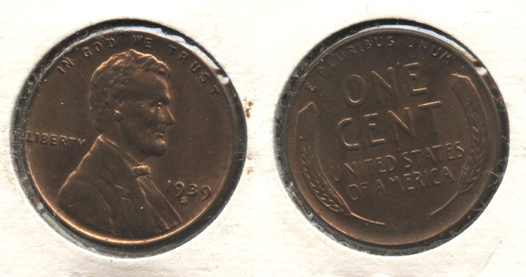 1939-S Lincoln Cent MS-61 Brown #c