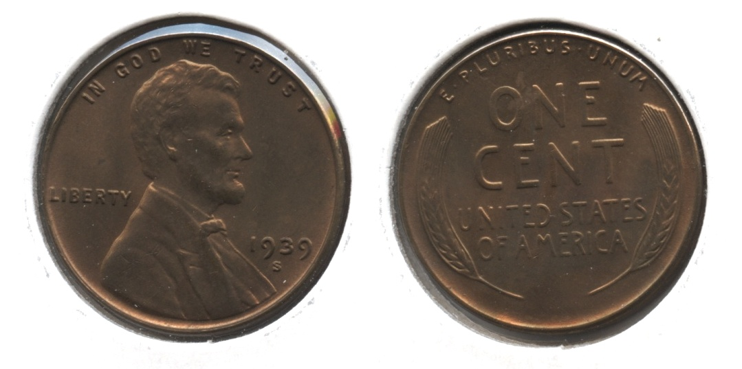 1939-S Lincoln Cent MS-63 Brown