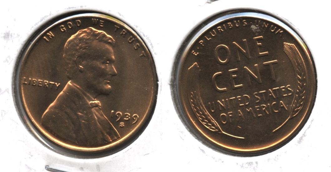 1939-S Lincoln Cent MS-63 Red