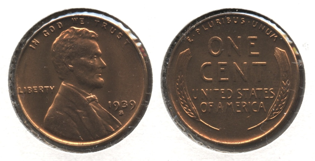 1939-S Lincoln Cent MS-63 Red #n