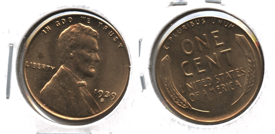 1939-S Lincoln Cent MS-64 Red