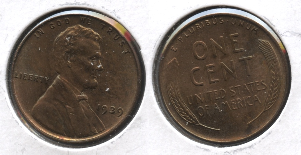 1939 Lincoln Cent MS-63 Brown