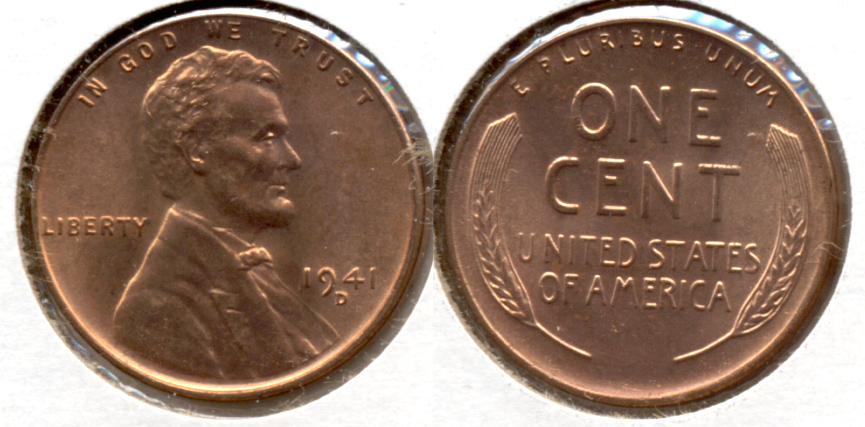 1941-D Lincoln Cent MS-62 Red b