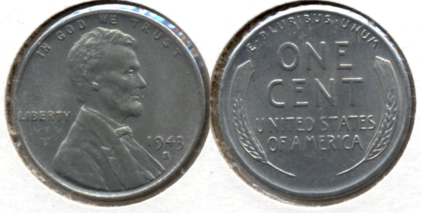 1943-S Lincoln Steel Cent MS-61