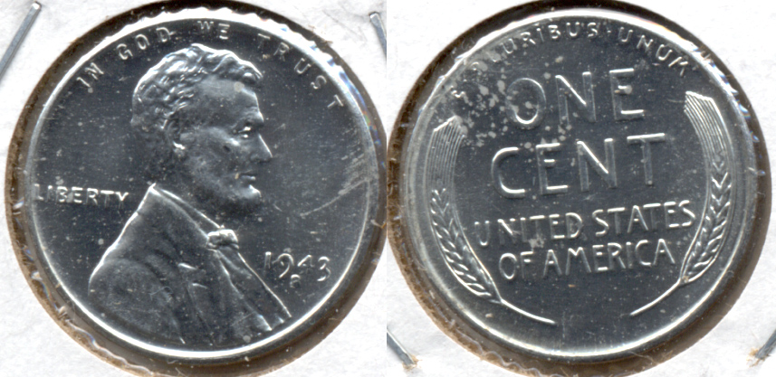 1943-S Lincoln Steel Cent MS-62 g
