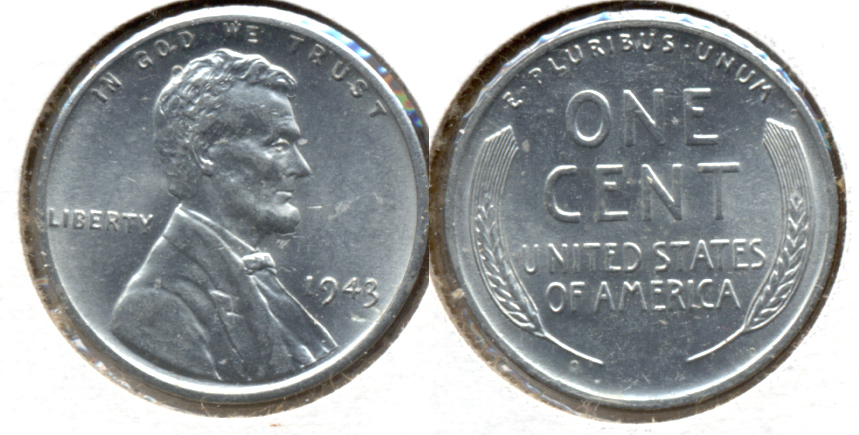 1943 Lincoln Steel Cent MS-62 h