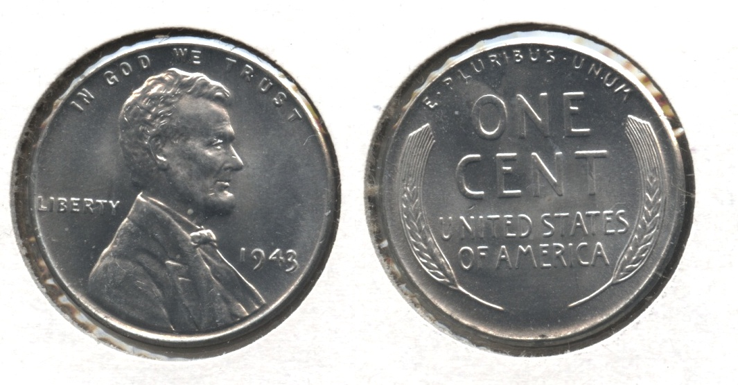 1943 Lincoln Steel Cent MS-65