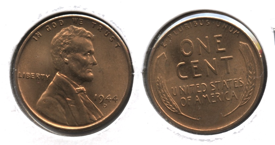 1944-D Lincoln Cent MS-62 Red Brown