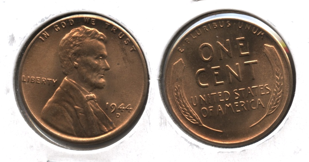 1944-D Lincoln Cent MS-63 Red