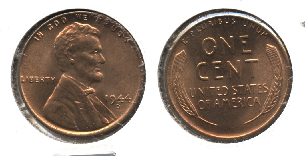 1944-D Lincoln Cent MS-63 Red #c