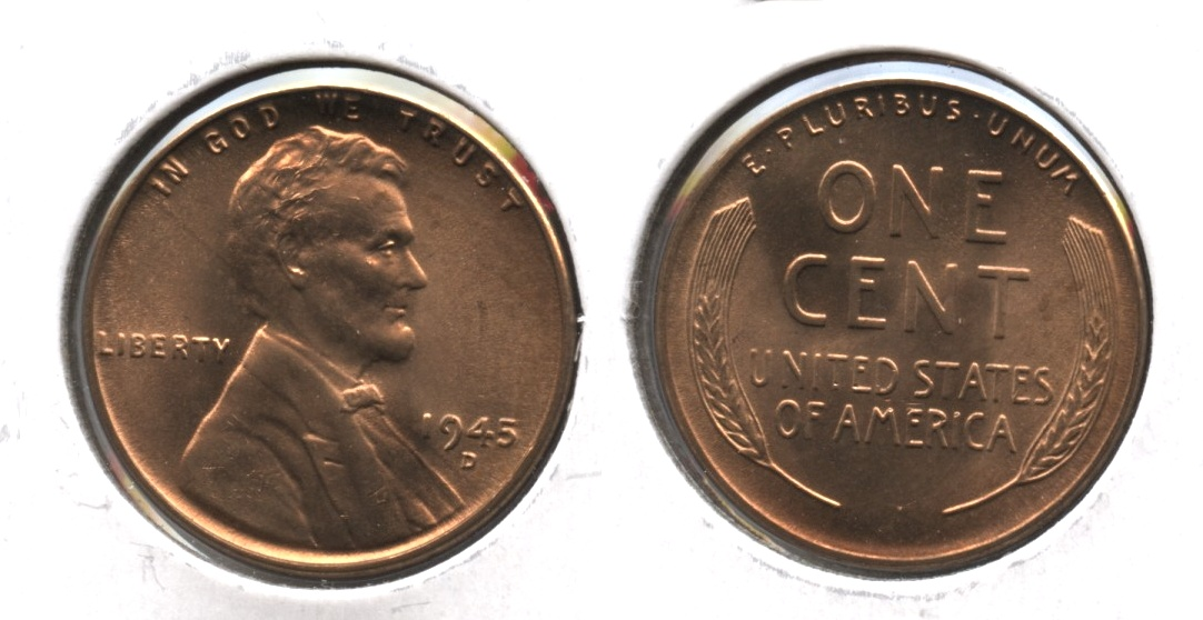 1945-D Lincoln Cent MS-63 Red