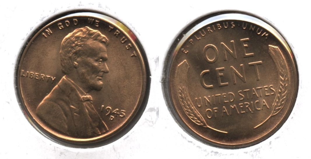 1945-D Lincoln Cent MS-63 Red #d